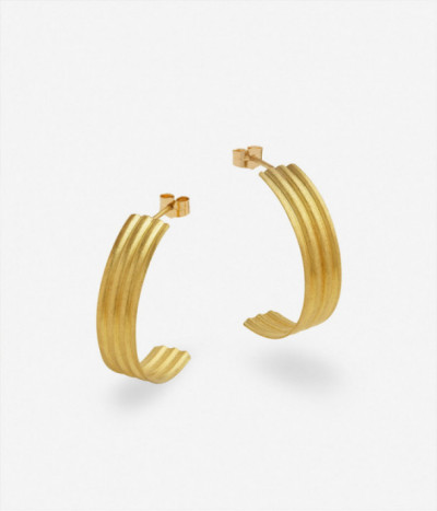 Pendientes Waves Hoops