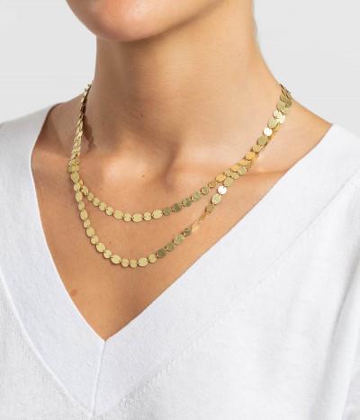 Collar oro Party largo / doble