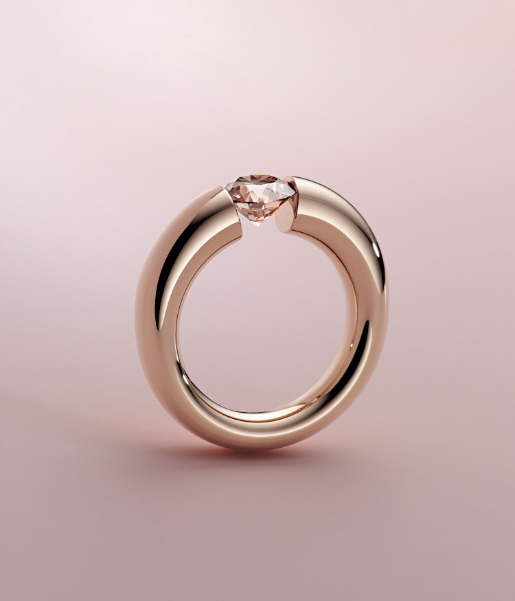 A. oro Au750 18K TRANSC. rosa diam color