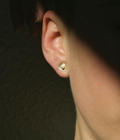 Pendientes Oro Au750 18Kt y perlas