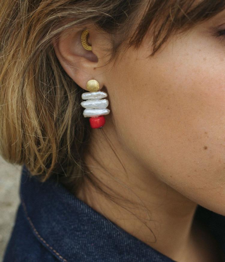 Amazonite Coral earrings