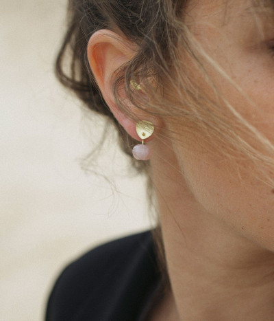 Supple Pink earrings