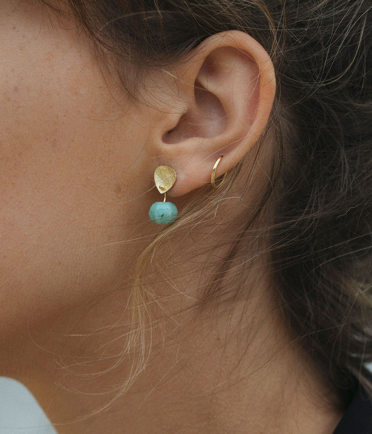 Supple Amazonite earrings