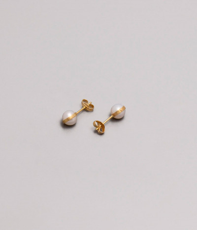 Pendientes Oro Au585 perlas