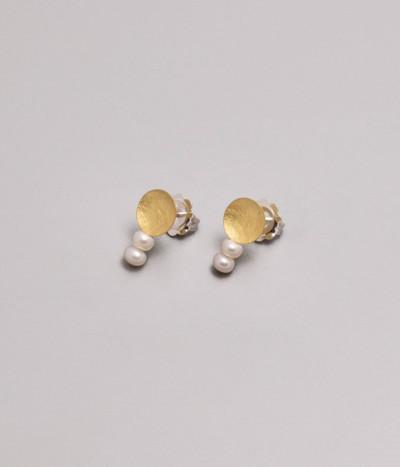 Pendientes Oro Au750 18Kty perlas