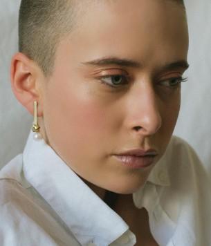 Long love knot earrings